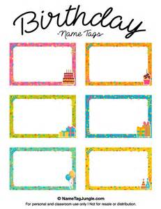 name tag printable template printable birthday name tags
