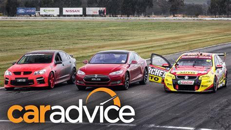 Tesla Racing Drag Race Tesla Model S Gegen Australische V8 Power