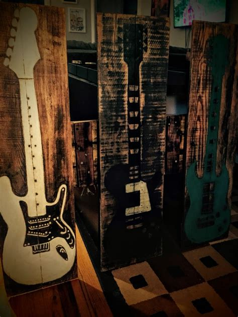 guitar home decor 17 best images about angry wood design recycled wood
