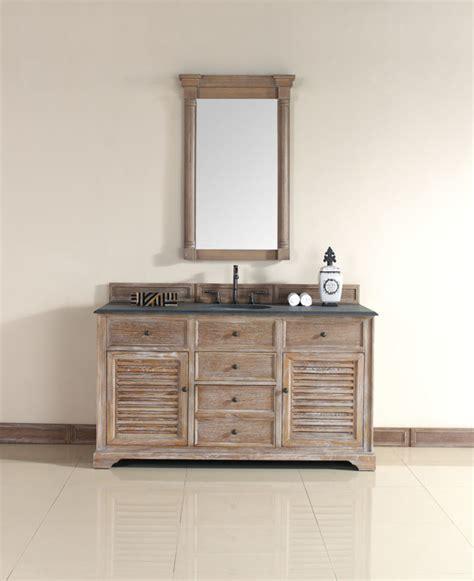 Driftwood Bathroom Vanity 60 Inch Driftwood Grey Single Sink Vanity Style Bathroom Vanities And Sink