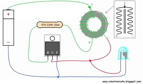 adding capacitor to joule thief make a joule thief easy electronics