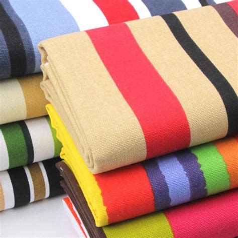 buy runway striped canvas fabric for cushions floral
