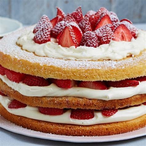 Cake Decoration Ideas At Home by Triple Layer Berry Victoria Sponge The Happy Foodie