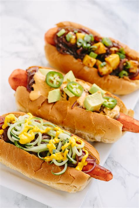 can dogs carrots vegan carrot dogs with spiralized toppings four ways inspiralized
