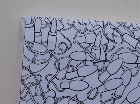 coloring page gift wrap diy coloring gift wrap