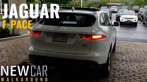 jaguar f pace trunk 2017 jaguar f pace in depth walkaround start up interior