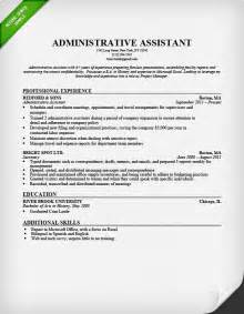 Professional Resume Exles For Assistant Administrative Assistant Resume Sle Resume Genius
