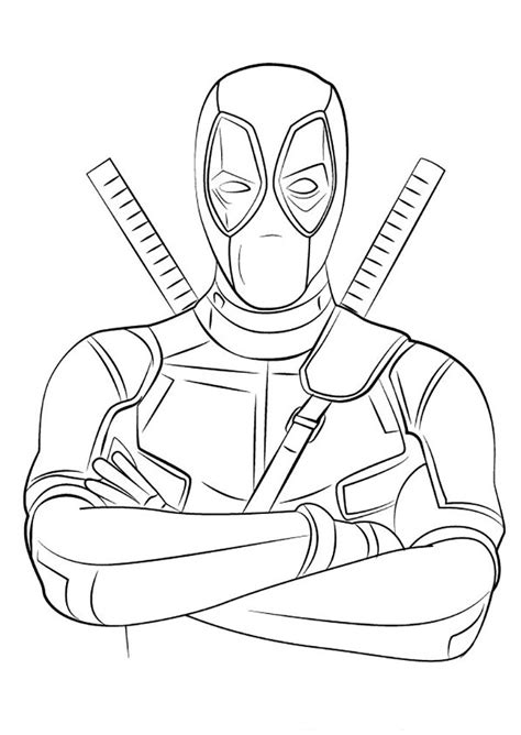deadpool coloring pages