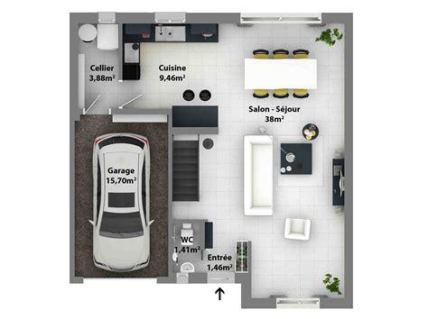 Plan Maison Contemporaine Gratuit 3077 by Plan De Maison Moderne Maison Laure Constructeur