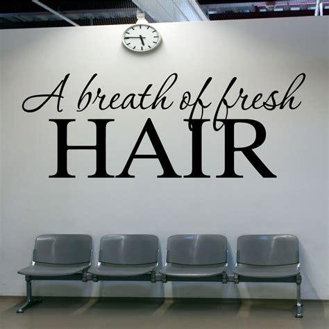 Hair Salon Wall Decor by Hair Salon Wall Sticker A Breath Of Fresh