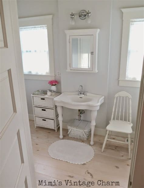 shorely chic vintage style bathroom party white decorating at the vintage inspiration party songbird