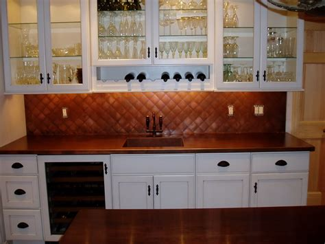 copper sheet backsplash king sleigh bedroom set