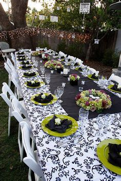 green and black damask table decor shower me with gifts table decorations wedding