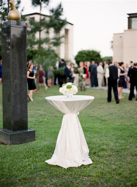 backyard cocktail wedding reception white outdoor reception cocktail table elizabeth