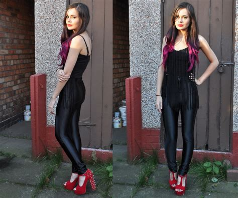 how to wear disco pants oh my style affordable fashion frances coyne love black fringed bralet shelikes black