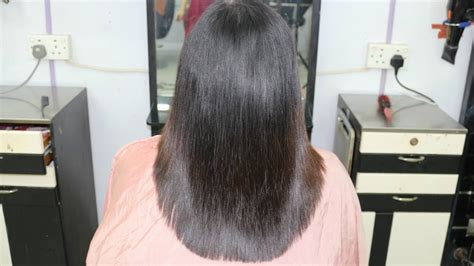 ladies hair u cut u shape layer cut indra gurung youtube