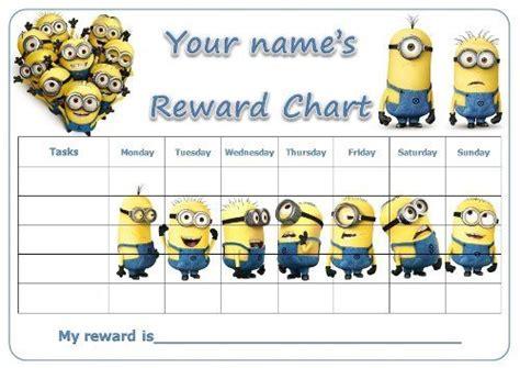 printable reward charts minions 42 best images about beloningskaarten on pinterest