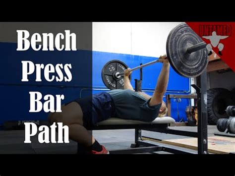 how heavy is the bar for bench press fix your bar path for a stronger bench press youtube