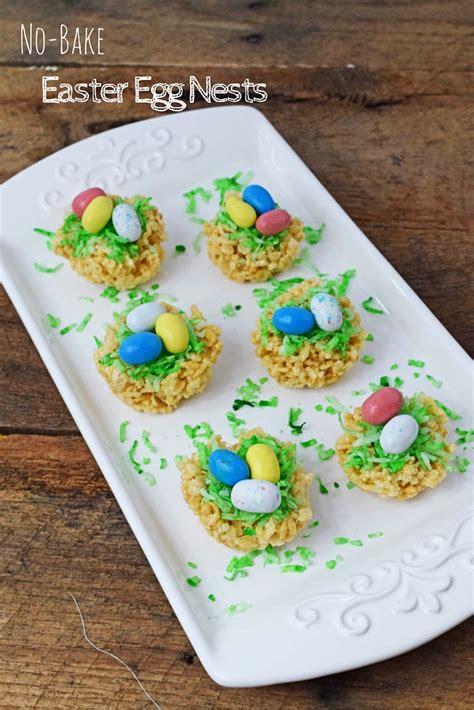 no bake easter egg nests