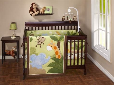 nojo jungle babies crib set animal print crib bedding webnuggetz