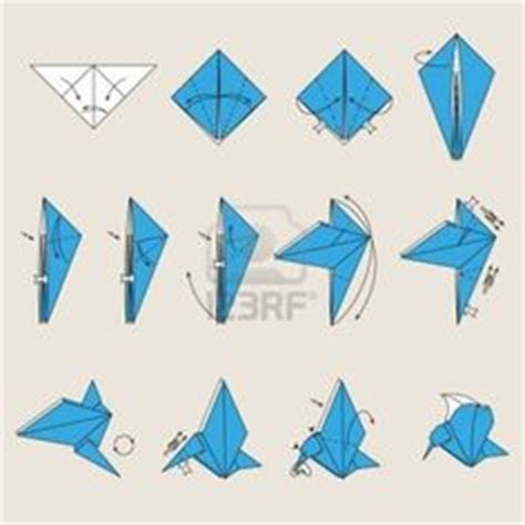 Origami Blue Bird - 1000 ideas about oiseau origami on boucle d