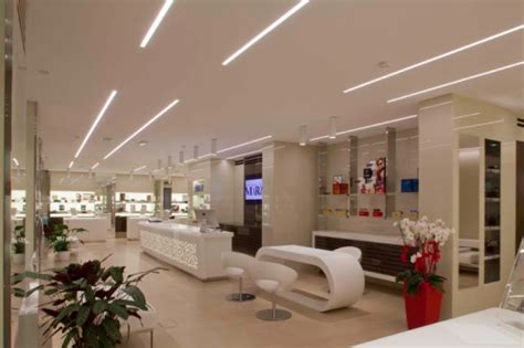 ottica marziali optical shop mixes ambient and accent led