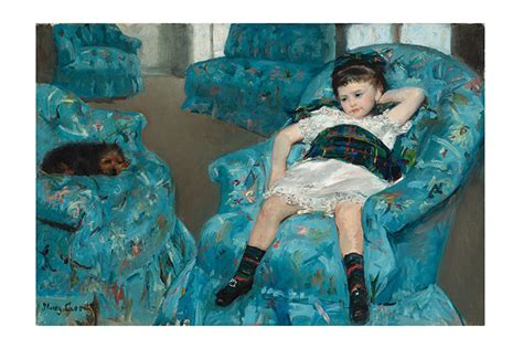 little girl in a blue armchair art review degas cassat at the national gallery of art