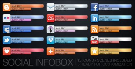 template after effects gc social infobox by uniquefx videohive
