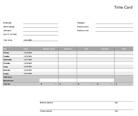 timecard template timcard template 3