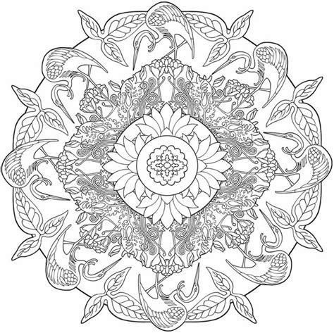 Nature Mandala Coloring Pages Printable | nature mandalas coloring pages coloring page for kids