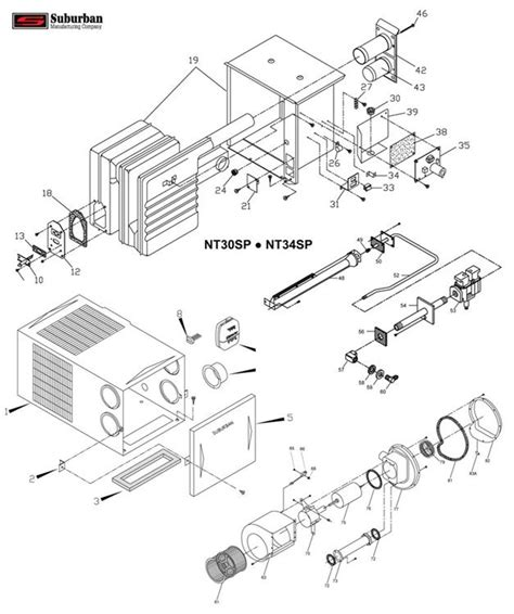 suburban furnace parts diagram 7 best images of suburban rv furnace wiring diagram