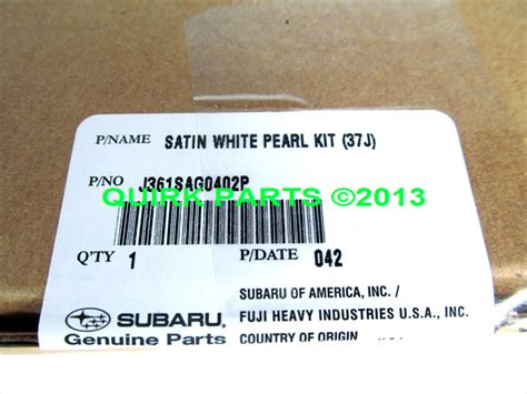 2004 2012 subaru touch up paint satin white pearl 37j j361sag0402p