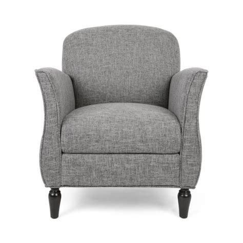 tweed arm chair noble house swainson traditional gray tweed fabric
