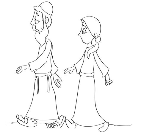 sarah and abraham coloring pages