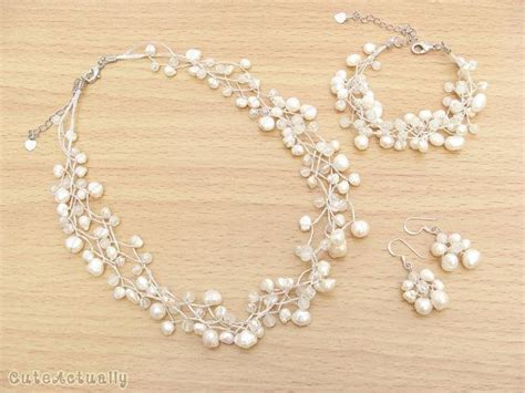 Hochzeitsschmuck Armband by Set Wei 223 S 252 223 Wasser Perlenkette Armband Ohrring