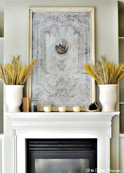 country mantel decor my inspired family room mantel at the picket fence