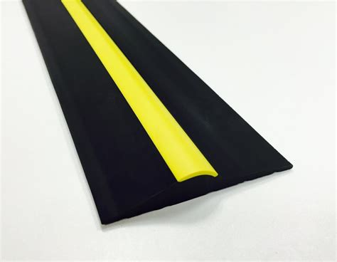 Garage Door Threshold R 15mm Black Yellow Rubber Garage Threshold Seal Ja Seals