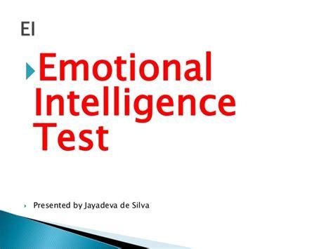 intelligence test emotional intelligence test