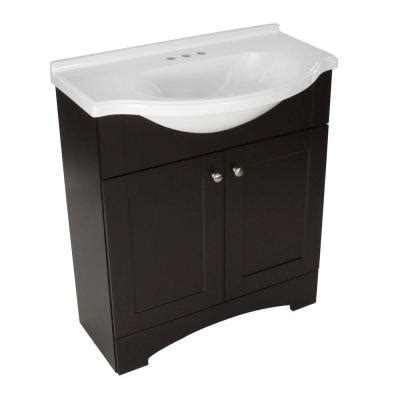 Bathroom Vanity Home Depot Glacier Bay Mar 30 In W Vanity With Ab Engineered Composite Vanity Top In Espresso