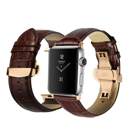 Leather Band For Apple 38mm 42mm apple band iwatch leather gold silver