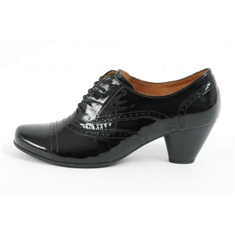 lace up shoes gabor shoes bauble lace up shoe in black patent