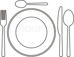 800 X 620 &183 59 KB Jpeg Plate Fork And Knife Source Http//www  sketch template