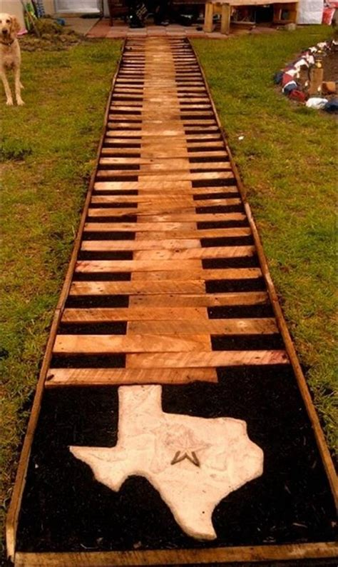 How To Make A Wood Pallet by Artistic Yet Unique Pallet Wood Walkway Pallets Designs