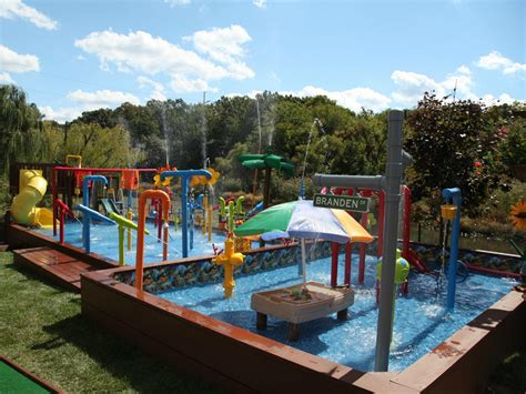 backyard water park backyard games and entertaining diy outdoor spaces