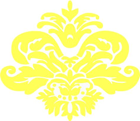 yellow pattern clipart yellow damask pattern clip art at clker com vector clip