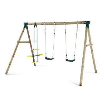 colobus swing set plum colobus wooden swing set free protektamats