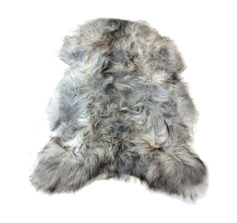 Grey Faux Sheepskin Rug by Image Gallery Pelt Rugs