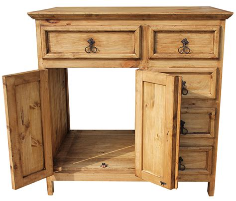 Rustic Pine Vanity by Rustic Pine Collection Sink Cabinet Acc38
