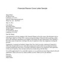 Cover Letter For Financial Planner by Financial Advisor Cover Letter Sle Free Resume Templates