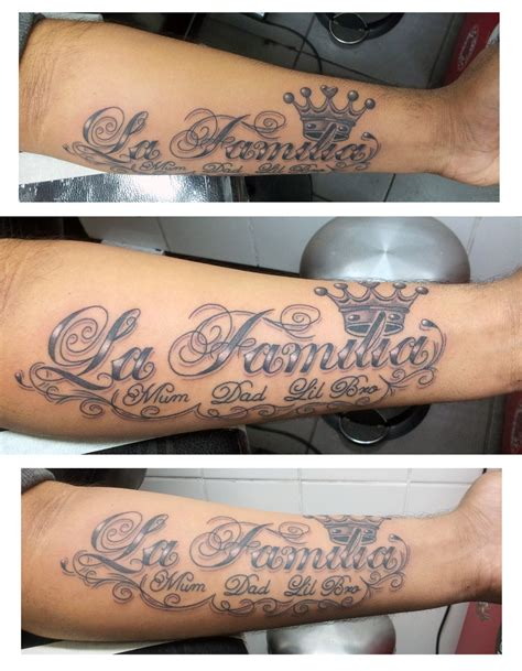 la familia tattoo designs la familia script 4 by ashtonbkeje on deviantart